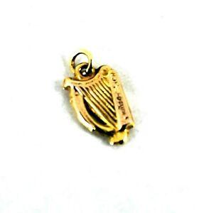9ct 9k Gold Harp Musical Instrument Charm