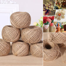 100m Long Natural Jute Rope Linen Wired Twine Hemp Rustic Cord Rope DIY String