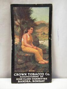 "Raja Ravi Varma Vintage Cigarettes Card Crown Tobacco Co Sita Vanvas Litho Prin"""