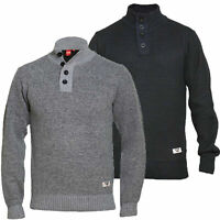 Mens Jumper D555 Duke Big King Size Knitted Sweater Pullover Zip Top Winter ZANE