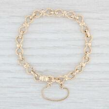 "James Avery Charm Bracelet 14k Yellow Gold 6.5"" Fancy Bow Links"