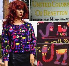 Maglie e camicie vintage da donna originale multicolore
