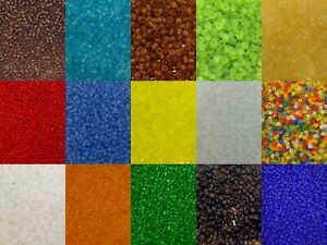 50g glass seed beads - Frosted, size 11/0 (approx 2mm) - choice of colours