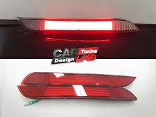 (2) Red LED Bar/Red Lens Rear Bumper Reflector Light Lamp Fits BMW F30 F31