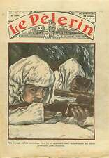 Marksman Snipers Tireurs Border guards White camouflage Russia 1936 ILLUSTRATION