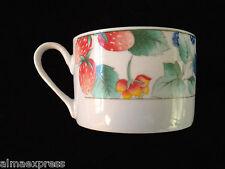 Lynns Fine China WATERBERRY Blue Bird & Fruit Pattern COFFEE MUG / TEA CUP