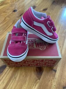 Toddler Girl Genuine Vans Off The Wall Size 6 Hot Pink Old Skool Trainers Shoes