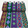 7 Yards Vintage Jacquard Embroidered Trim Border Ribbon Braid Trimmings