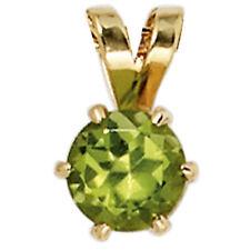 Anhänger 585 Gold Gelbgold 1 Peridot grün Goldanhänger