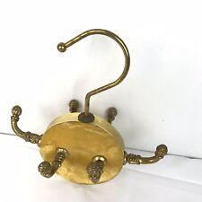 Vintage Antique Brass? Rod Mount Coat Hat Belt Hanger