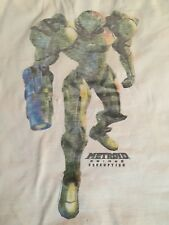 Metroid 3 Prime Corruption Video Game White T-Shirt Medium Nintendo