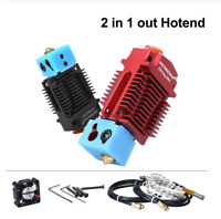 Upgraded 2 In 1 Out Hotend 12V/24V Dual color Bowden Extruder Kit For MK8 Titan