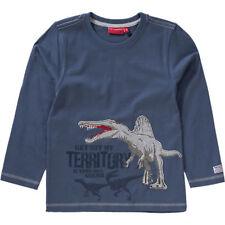 SALT AND PEPPER Langarmshirt für Jungen Dino blau  Gr 92 98 1965s