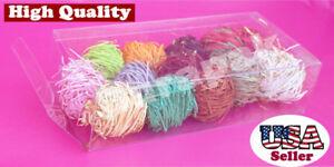 50  8x3-3/4x2 Tuck Side Closure Clear Plastic PVC Boxes Wedding Invitation Favor