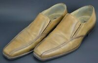 Skechers Collection Leather Loafers Shoes Mens Size 10 M Tan Brown Italy