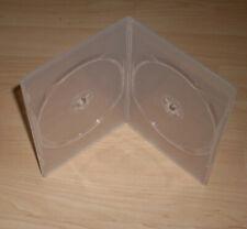 20 DVD Hüllen Case Slim 2fach transparent Slimm dünn 7mm Doppelhülle 2 DVDs Neu