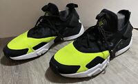 Men's Nike Air Huarache Drift Size 11 (Black White Volt) AH7334-700 Ships Fast
