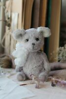 Teddy Handmade Interior Toy Collectable Gift Animal Doll OOAK Mouse Decor Fabric