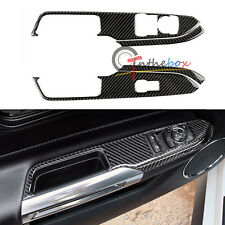 4Pcs Black Car Door Window Lift Switch Panel Cover Trim for 2015-up Mustang Hot