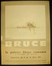 Affiche exposition Michel BRUCE 3 mars 1972 à la palette bleue romanet