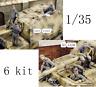 1/35 Resin FERDINAND CREW German 6 Soldiers Kit Unpainted Unassembled