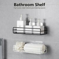 Metal Mounted Adhesive Kitchen Storage Rack Bathroom Shelf Organizer Holder