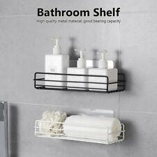 Mounted Adhesive Kitchen Shampoo Holder Storage Rack Bathroom Organizers Shelf