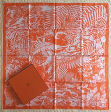 NWT~HERMES~Flamingo Party~Abeille Tatouage~100% Silk~Scarf~Carre~90~Box~Toutsy