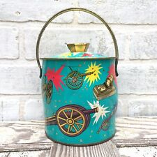 Vintage Baret Ware Biscuit Tin Turquoise
