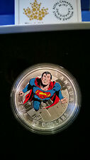 2014 CANADA $15 .999 SILVER Coin Iconic Superman #419 #4737