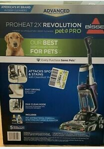 BISSELL ProHeat 2X Revolution Pet Full Size Upright Carpet Cleaner Blue #15506