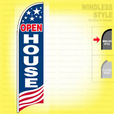 Open House Windless Swooper Flag 2x115 Ft Feather Banner Sign Usa Bb