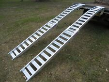 3.5Metre Folding Curved ATV Mower Loading Ramps Structural Aluminium Aussie Made