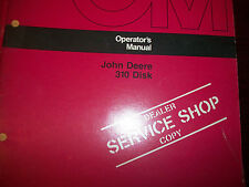 John Deere Tractor Operator'S Manual 310 Disk Issue F7