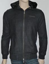 Emerica Skateboarding Troupe Natural Mens Black Hooded Varsity Zip Jacket NWT S
