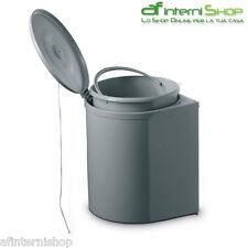 Pattumiera sottolavello TONDA plastica scavolini PATT1 plastica rotonda grigio