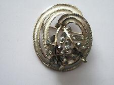 BSK Rhinestone Swirl Pin/Brooch- Nice!