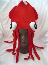 Red Squid Hat Octopus Novelty Halloween Hat Adult Fun Silly-Brand New!