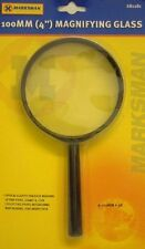 "Rolson 100mm  4"" Hand Held Magnifying Glass Large Magnifier 3X Glass LenS"