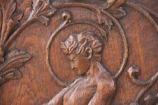 19C French Fantasy Carved Oak Mythological Centaur Matched Panels
