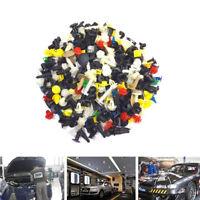 200Pcs Car Body Plastic Push Pins Rivet Fasteners Trim Moulding Clips Assortment