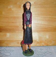 JIM SHORE Pencil Amish Woman with Flower Basket 1992