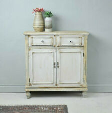 Distressed Rustic Cupboard Wooden Cabinet Storage 2 Drawer 2 Door Furniture Unit