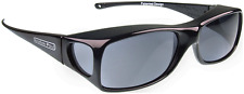 New JONATHAN PAUL Polarized Sunglasses Fit-overs Aria Midnight Black AA001 Large