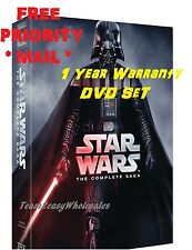 FREE PRIORITY MAIL NEW Star Wars: Complete Saga episodes 1-6 Box Set 12-Disc DVD