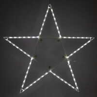"48"" 5-Pt Folding Star Decoration Cool White LED Lights Outdoor Christmas Decor"
