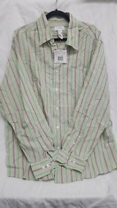 NWT Concepts By Claiborne Men's Shirt  Size XL Brown & Green Stripped