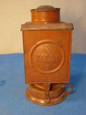 Antique KODAK Tin Dark Room Kerosine Oil Lamp Photograph