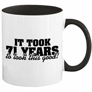 71st Birthday Mug Coffee Cup 1950 Funny Gift For Women Men Her Him R-66I