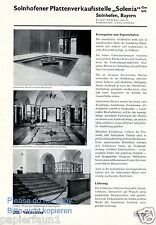 Solnhofer Platten Verkaufsstelle Solenia Reklame 1935 Wandplatten Bodenplatten